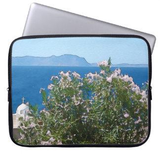 Watercolor sea view laptop sleeve