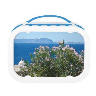 Watercolor sea view lunch box