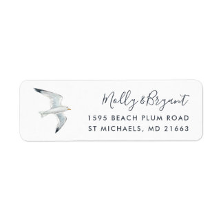 Watercolor Seagull Return Address