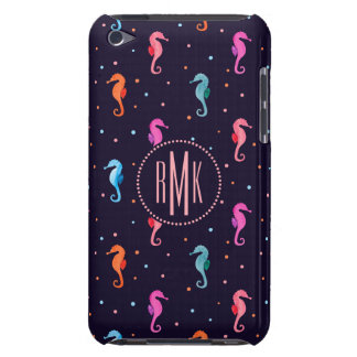 Watercolor Seahorses on Navy Blue Pattern Case-Mate iPod Touch Case