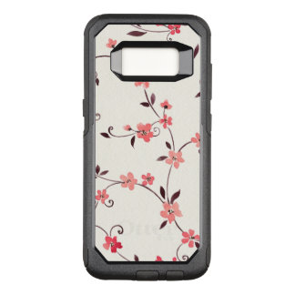 Watercolor seamless pattern with styled spring OtterBox commuter samsung galaxy s8 case