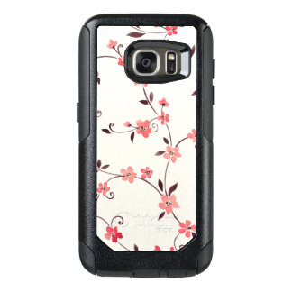 Watercolor seamless pattern with styled spring OtterBox samsung galaxy s7 case