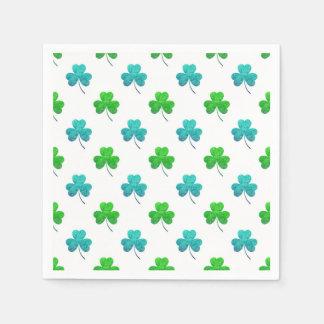Watercolor Shamrock Pattern Paper Napkin