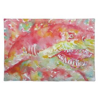 watercolor SHARK Placemat