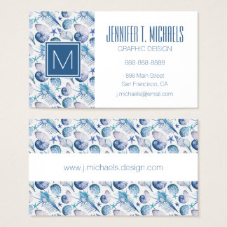 Watercolor Shells Business Card
