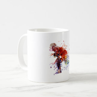 Watercolor silhouette american football player coffee mug