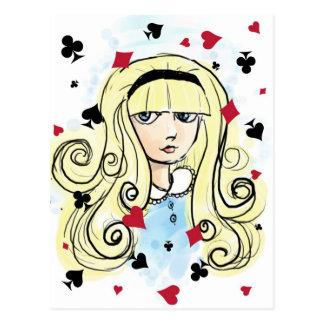 Watercolor Sketch Alice Postcard