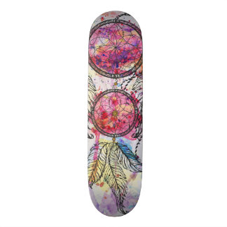 "Watercolor sketch Dreamcatcher ""Chase your Dreams"" Skateboard Decks"