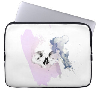 Watercolor Skull sleeve Laptop Sleeve