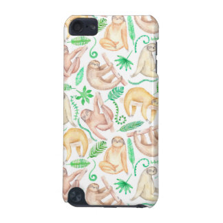 Watercolor Sloth Pattern iPod Touch (5th Generation) Case