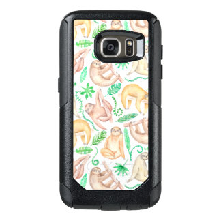 Watercolor Sloth Pattern OtterBox Samsung Galaxy S7 Case