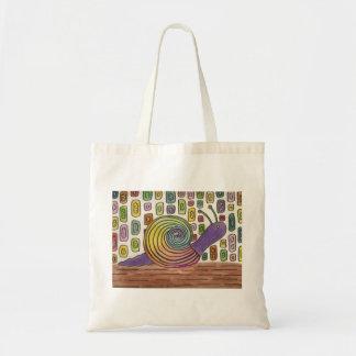 Watercolor Snail Tote Bag