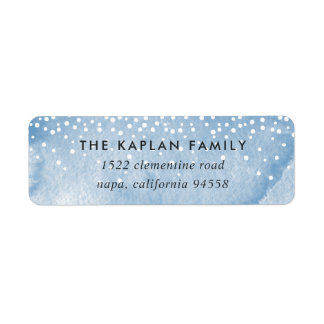 Watercolor Snowfall Holiday Return Address Labels