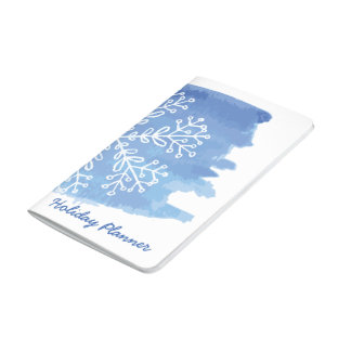 Watercolor Snowflake Holiday Planner Journal