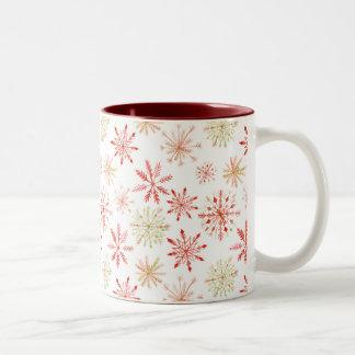 Watercolor Snowflake Mugs