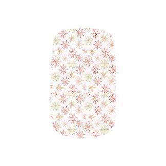Watercolor Snowflake Nails Minx Nail Art