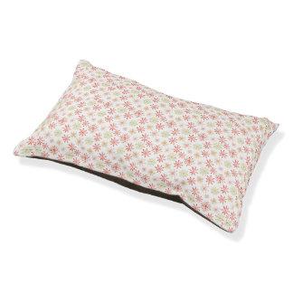 Watercolor Snowflake Pet Bed