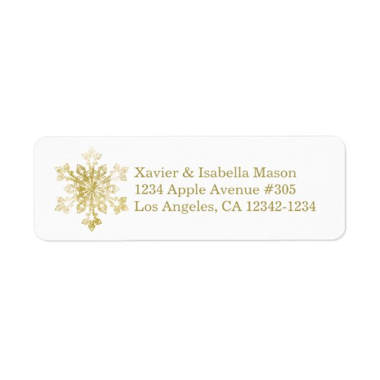 Watercolor Snowflake Return Address Label