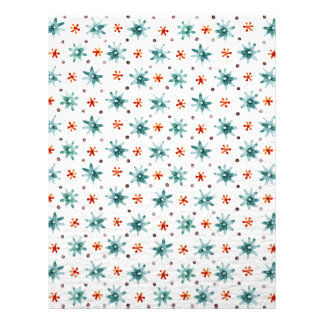 Watercolor snowflakes on a white background custom letterhead