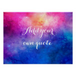 Watercolor Space Custom Quote Poster