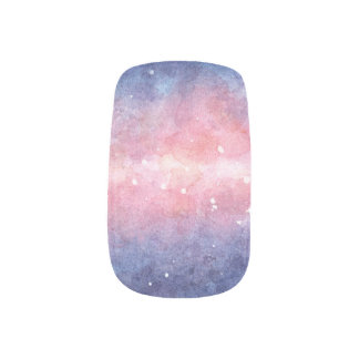 Watercolor Space Nail Art