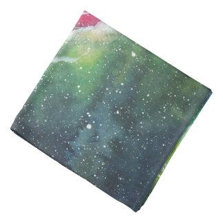 Watercolor Space Nebula Galaxy Bandana