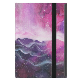 Watercolor Space Nebula Galaxy Cover For iPad Mini