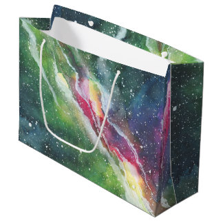 Watercolor Space Nebula Galaxy Large Gift Bag