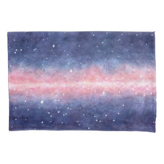 Watercolor Space pillowcases