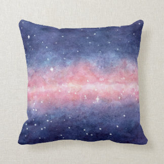 Watercolor Space Throw Pillow