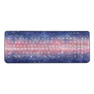 Watercolor Space Wireless Keyboard