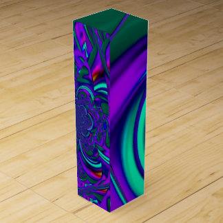 """Watercolor Splash"" Custom Wine Gift Box"