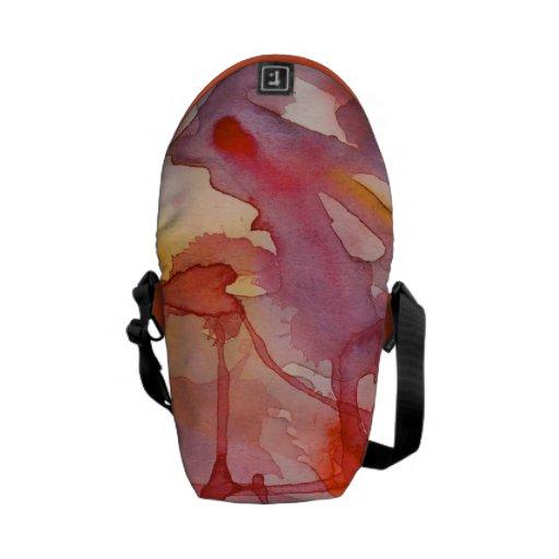 Watercolor Splash In Warm Tones Commuter Bag