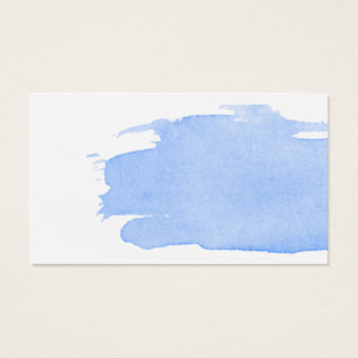 Watercolor Splash of Blue Business Card