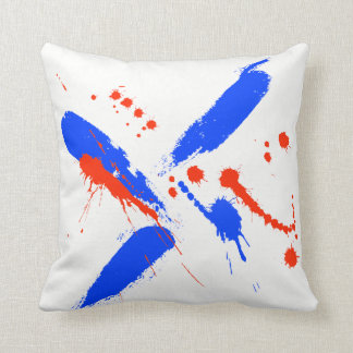 Watercolor Splashes Throw Pillow