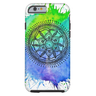 Watercolor Splatter Mandala Vibe Tough iPhone 6 Case