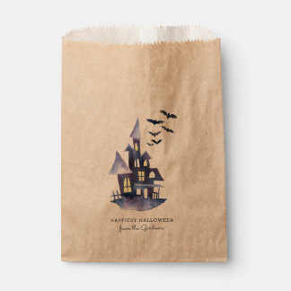 Watercolor Spooky House Favour Bag