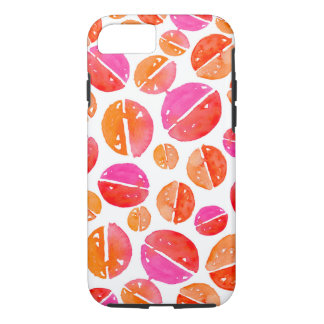 Watercolor Spots in red, pink, orange iPhone Case