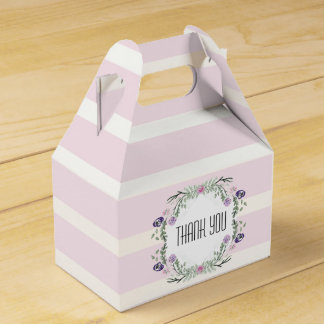 Watercolor Spring Floral Thank you Favor box