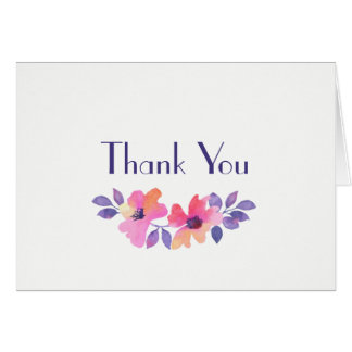 Watercolor Spring Floral Wedding Thank You Card