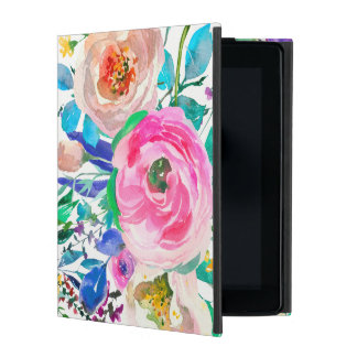 Watercolor Spring Flowers iPad Cover