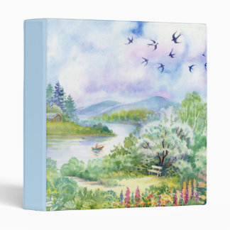 Watercolor Spring Scene Binder