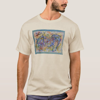 Watercolor Squiggle Elephant Card T-Shirt