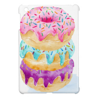 Watercolor stack of donuts iPad mini cover