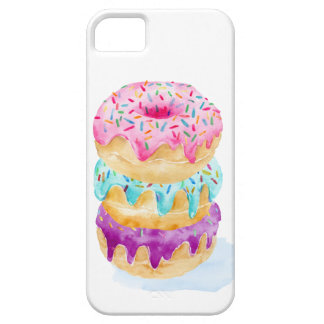 Watercolor stack of donuts iPhone 5 cover