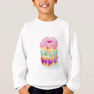 Watercolor stack of donuts sweatshirt