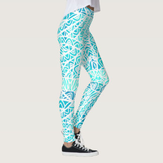 Watercolor Stained Glass Abstract Pattern Custom Leggings