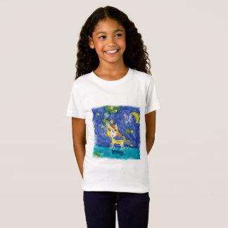 Watercolor Starry Night Pegasus with Bat T-Shirt