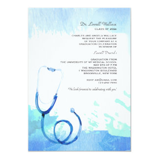 Watercolor Stethoscope Invitation
