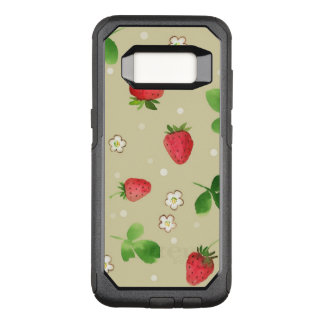 Watercolor strawberries pattern OtterBox commuter samsung galaxy s8 case